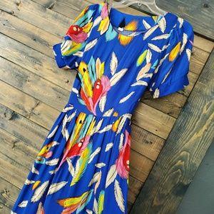 Boho Feather Maxi Dress Colorful Modest